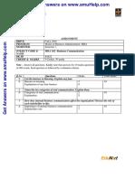 Mba102 Business Communication De