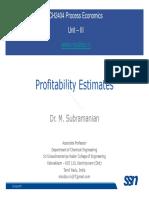 Eco Lecture 04 ProfitabilityEstimates