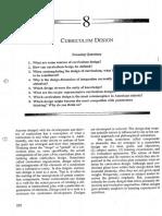 Chapter 8 - Curriculum Design