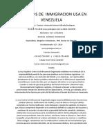 Abogados de Inmigracion Usa en Venezuela