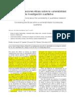 Consideraciones Éticas en Inv. Cualitativa, Loue