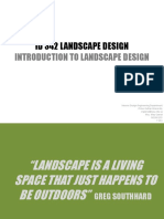 LECTURE 1 Introduction to landscape design