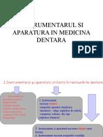 Instrumentarul stomatologic