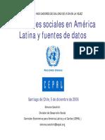 Indicadores Sociales CEPAL