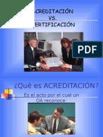 Acreditacion vs Certificacion