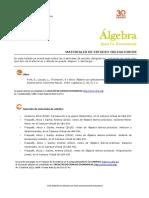 Álgebra Para Eco Bibliografia 2 2016