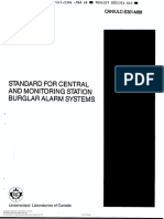 CAN ULC-S301-M88 Standard for Central and Monitoring Station Burglar Alarm Systems