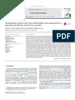 Hu 2016 Nanoparticles Zein Curcumin