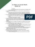 Week 02 Values