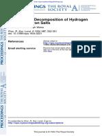 Descomposition Catalitica de Peroxido de Hydrogeno Por Sales de Hierro Haber1934