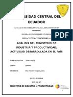 Ministerio de Industrias y Prodctividad