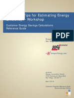 Tools and Tips for Estimating Energy Efficiency - Reference Guide