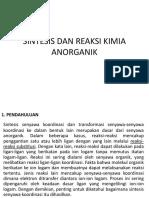 Sintesis Dan Reaksi Kimia Anorganik