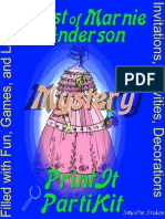 00005 Murder Mystery Game Party Game and Theme Kit - Print Yourself - Ghost of Marnie Andersen, for 8, 10 and 12 Girls ages 9 to 14 and 3 adults.  Can be used as a slumber party or one day event.