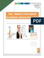 Projeto Mapeamento Procedimentos 2011