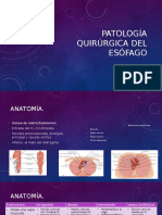 Patologia Qx Esofago