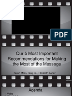 5 Most Important Recommendations for Making the Most of the Message