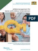 Qualitaetsmanagement Fuer Kleine Und Mittlere Unternehmen