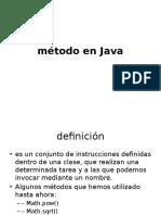 método en Java