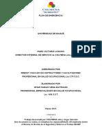 Plan Emergencias Universidad Ibague 2015
