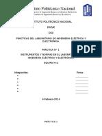 Instrumentos y Normas en El Laboratorio de Ingeniería Eléctrica y Electrónica