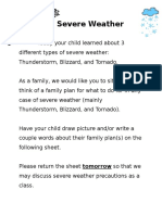 severe weather family note