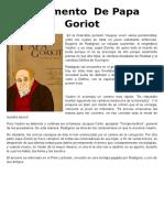 Argumento de Papa Goriot