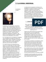 Kant y La Moral Universal