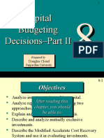 Chapter 8, Capital Budgeting Decisions, Part II