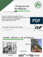 Informe de Progreso Mejoras Permanentes Al Claustro