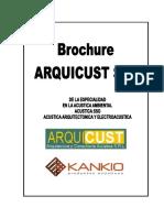 Brochure Acustica Arquicust 2016