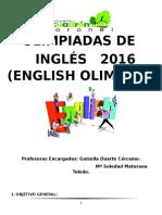 Olimpiadas Inglés 2016