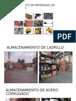 Almacenaniento de Materiales de Construccion