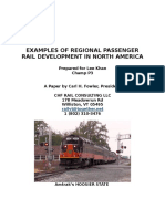examples of regional rail developments in north america