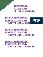 Jamila Israwiana Mahmud