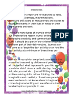Journal Writing Prompts and Activities