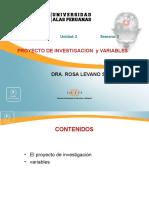 SEMANA 3 PROYEC. DE INVEST y VARIABLES.ppt