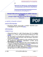 Weekly Political Events Regarding the SPDC's Election (012-2010)
