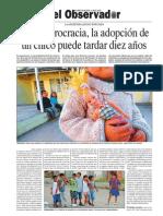 Por la burocracia, la adopción de un chico puede tardar diez años