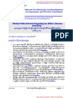 Weekly Political Events Regarding the SPDC's Election (016-2010)