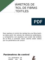 Parámetros de Control de Fibras Textiles