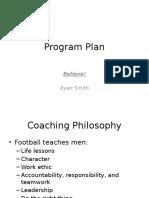 football program plan