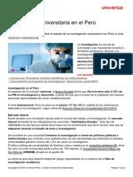 2 Investigacion Universitaria en El Peru