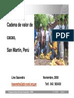 Cadena de Valor de Cacao SM