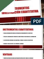 Instrumentos investigación cuantitativa