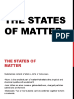 The States of Matter