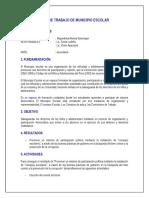 Plan de Trabajo de Municipio Escolar 2016