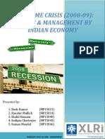 Project-Subprime Crisis _2008-09_ Final 10.10.15