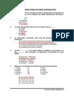 Cuestionario Sobre Factores de Produccion Sesion 1