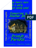 00042  Murder Mystery Games Party - Tomorrow Is Another Day Mystery Party Game and Kit for 4 Boys and 4 Girls; plus an audience ages 11 to 13